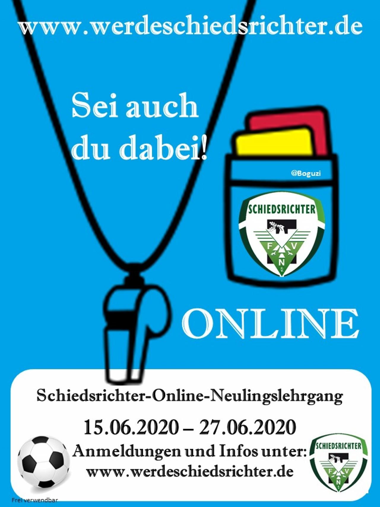 Schiedsrichter-Online-Neulingslehrgang